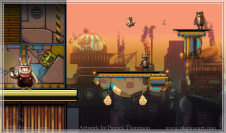 game background parallax steampunk platform city art illustration pkgameart
