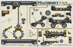 machinist 2d game assets machines animating steampunk mobile teach code gadgets animation gears pkgameart