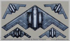 game top view war mobile pkgameart b2 bomber plane fighter damage states