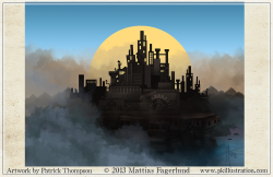 background factory city game machinist fabrique art illustration pkgameart