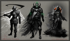 death knight concept undead warrior fantasy evil creature character art illustration pkgameart thumbnail