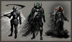 death knight concept undead warrior fantasy evil creature character art illustration pkgameart thumbnail