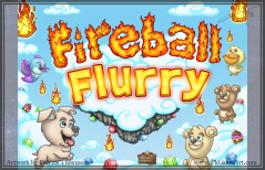 game logo text title screen mobile fireball flurry