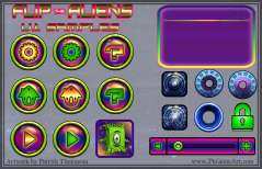 game mobile flip aliens ui menu icons buttons text gui pkgameart