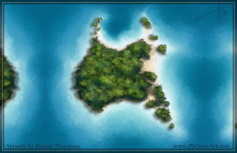 island aerial game art illustration pkgameart