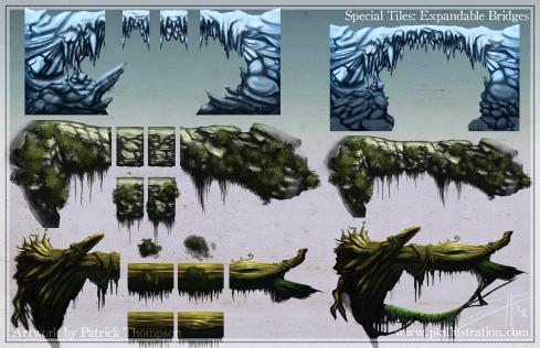 game tiles assets bridge seamless parallax art illustration pkgameart
