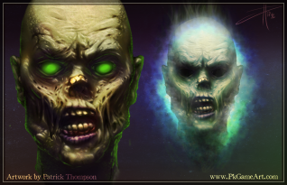zombie head ghost concept art illustration pkgameart