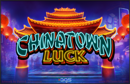 chinatown luck painting china gate illustration wet neon