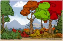 game background parallax forest cartoon mountain art illustration pkgameart