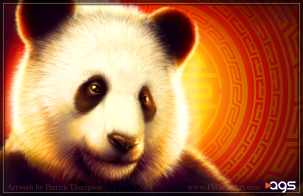 fu panda china slot machine game character animal art illustration pkgameart