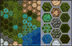 game tile hexagon terrain game art illustration settler's of catan pkgameart