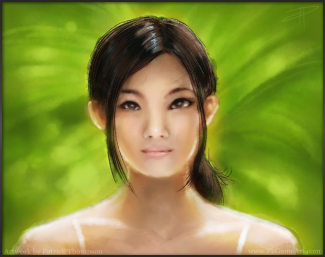 oil painting chinese woman girl beautiful portrait concept glow light loose figure art illustration pkgameart