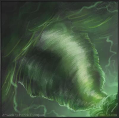 tornado green icon concept sketch art illustration pkgameart