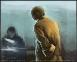 xian china plein air painting digital oil figure drawing 西安 绘画 中国 pkgameart monk shopping