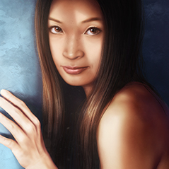 asian woman figure painting