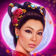 divine moon chang'e goddess illustration animated