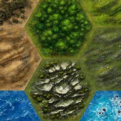 hexagon tile game world map