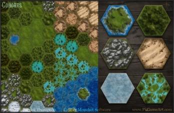 hex tiles game art mouchet cohorts pkgameart 2018 split