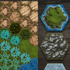 hexagon tiles game environment