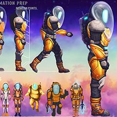 alien world astronaut concept asset