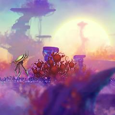 alien background parallax