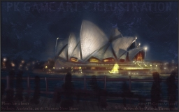 Opera House plein air pkgameart